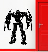 New arrival free shipping diy wallpaper Robot Sticker Weapon Decal Posters Vinyl Wall Art Decals home Decor Robot Sticker