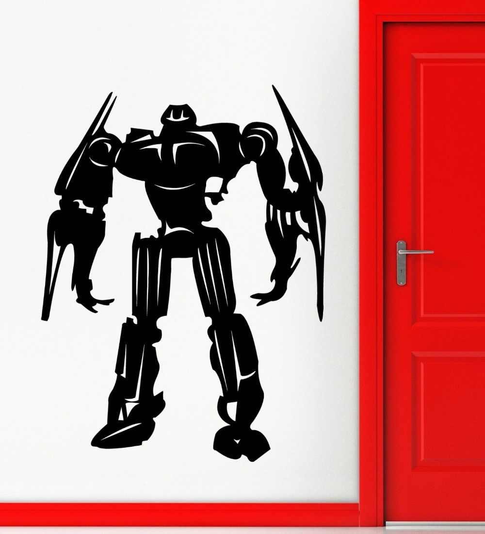 Новое поступление Бесплатная доставка diy обои наклейка с роботом оружие наклейка плакаты виниловые настенные художественные наклейки домашний декор наклейка с роботом