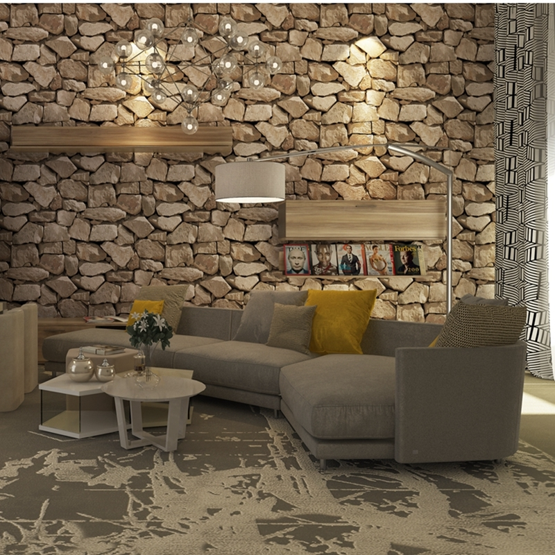 Vinyl Wall papers Vintage WallPaper PVC Waterproof 3d Stone Wallpaper roll 3D Wall Panels Wallpaper Home Decoration for Wall interior design vinyl 3d wallpaper for home decoration