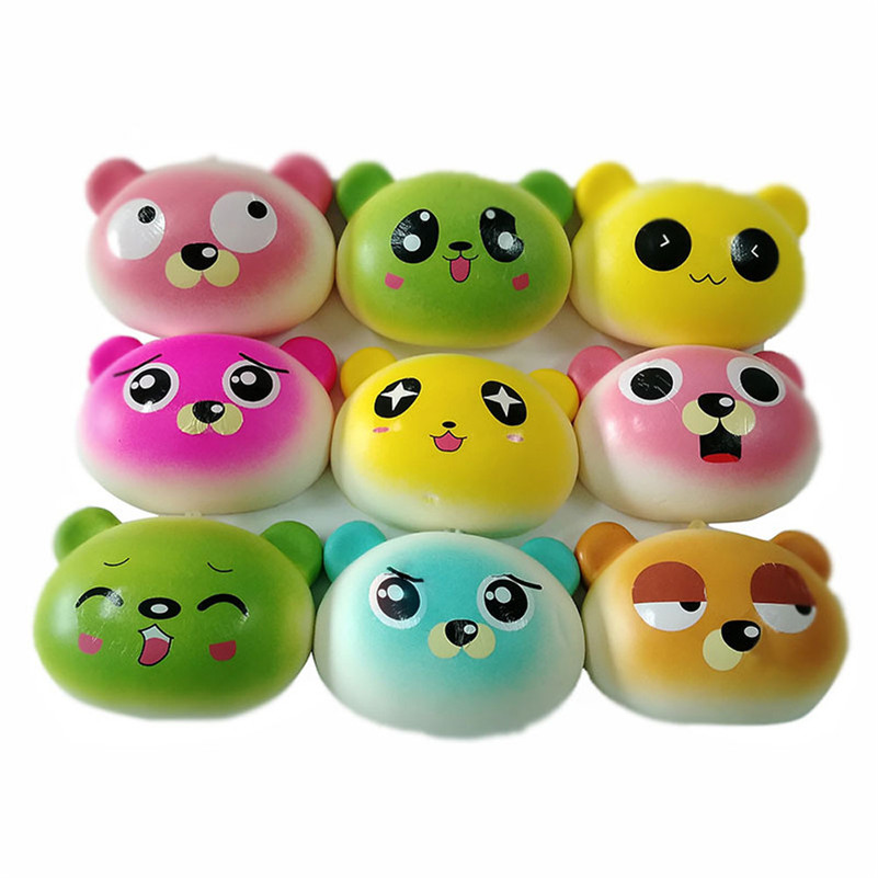 1pc New Simulation Bread Slow Rising Collection Squeeze Stress Reliever Toy Wipes Anti-stress Cute Chancery Toy For Kid A1