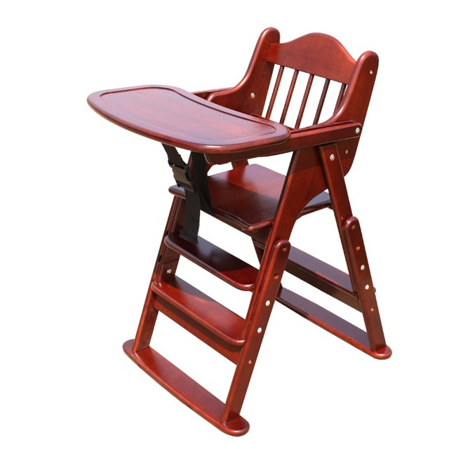 Silla alta para niños, trona madera moda niños silla plegable ...