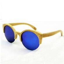 Neuheit Bambus Sonnenbrille Männer Frauen Markendesigner Original Holz Sonnenbrille Holzrahmen Polarisierte Gläser für Frauen Männer