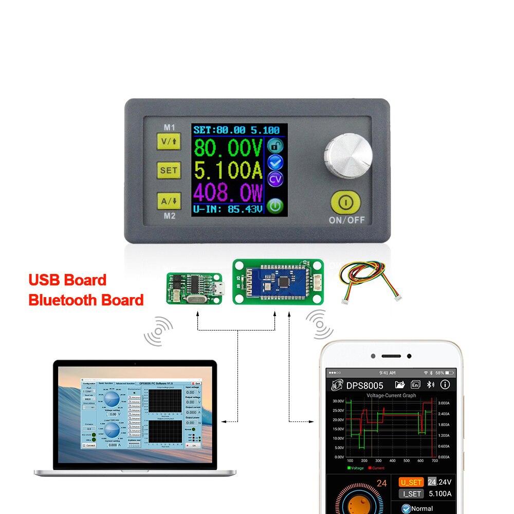 DPS8005 программируемое постоянное напряжение Текущий Шаг вниз источника питания модуль вольтметра амперметр понижающий преобразователь 80V5A ...
