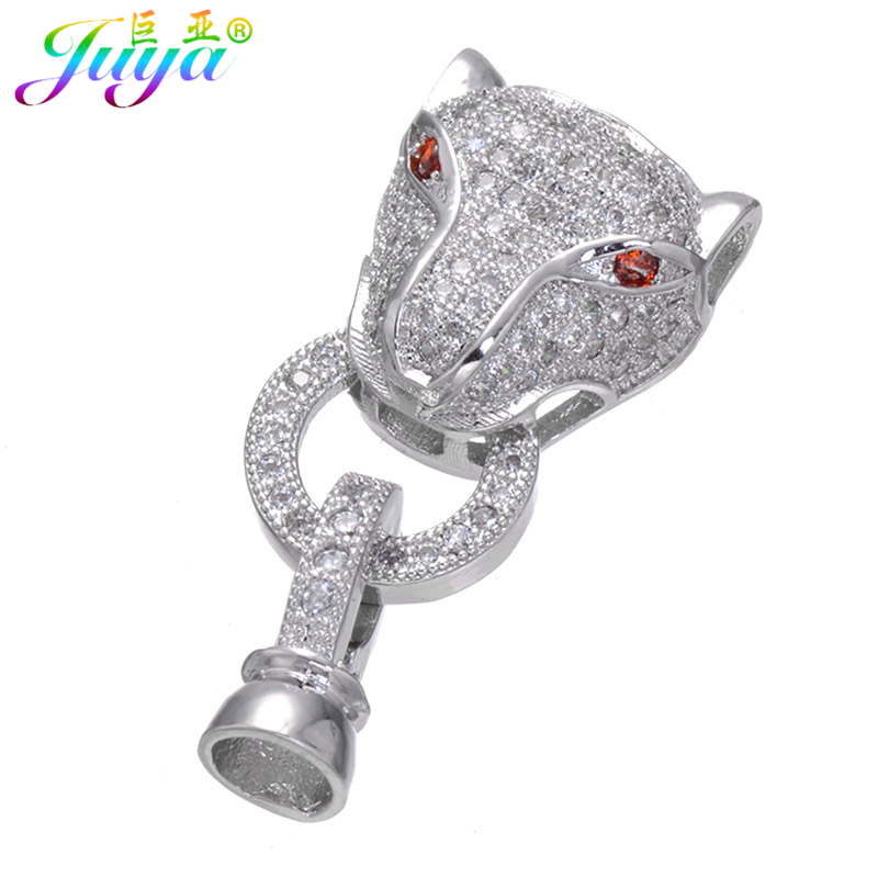 Juya DIY Beads Jewelry Clasps Supplies Leopard Closure Fastener Dragon Clasps For Natural Stones Pearls Beading Jewelry Making