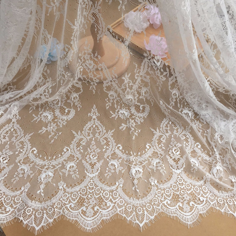 3M long hot selling in best price eyelash chantilly lace