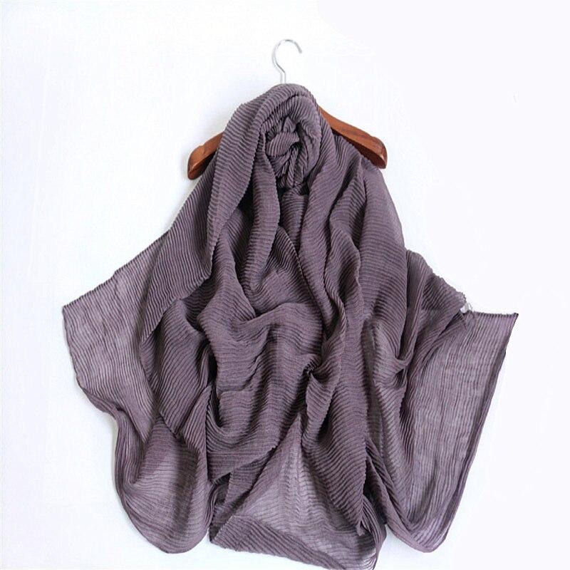 2017 new pure color vertical stripe drape Muslim hijab Scarf women gorgeous foulard pashmina bandana echarpe