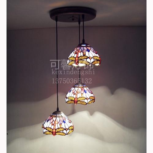 3 head round base  tiffany chandelier  stair light bar light dining room light bedroom light Free Shipping stair light