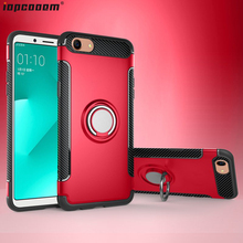 F7 Cases For OPPO A79 A73 A83 Case OPPO A3S TPU+PC shockproof With finger ring Holder Phone Back Cover For OPPO F5 coque цена и фото