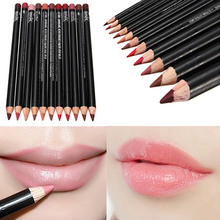 Hot 12 Colors Professional Lipliner Makeup Cosmetic Gloss Lip Liner Pen Beauty