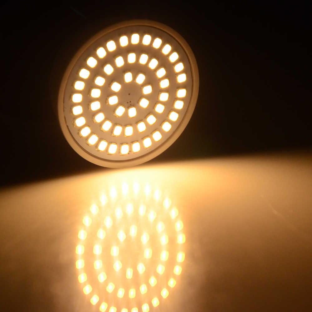 20 шт./лот лампадка с светодиодными лампами лампа GU10 лампочки, светильники ГУ 10 220 V 2835 Светодиодный точечный светильник свеча Luz Lamparas лампады огни