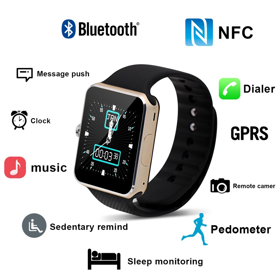New TC066 Smart Watch Bluetooth Sync MTK6260 font b Smartwatch b font With Android IOS System