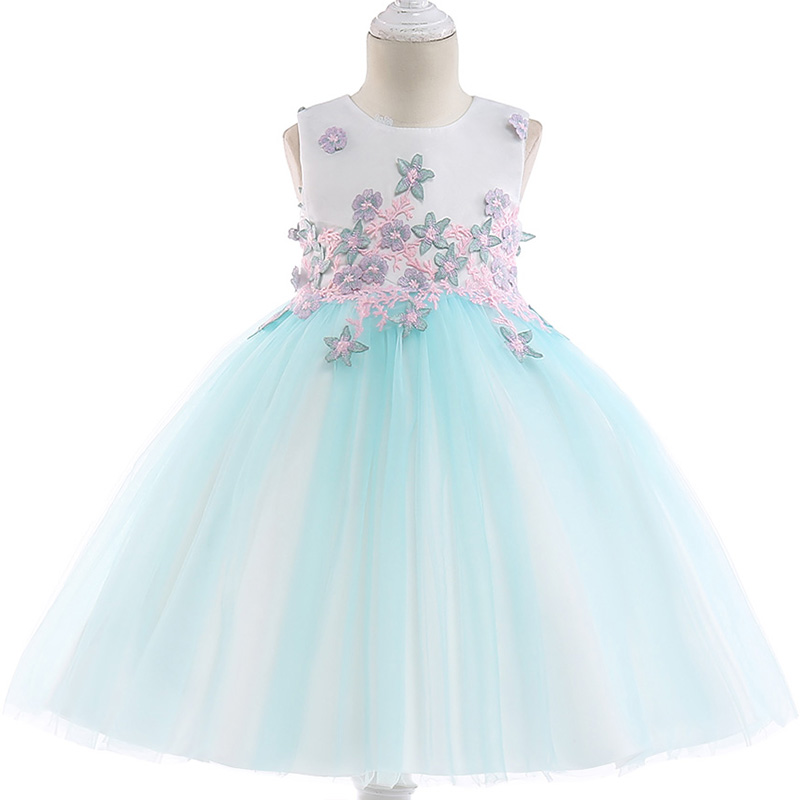 Retail Cute   Flower   Kids   Girls   Summer Evening Party Gown   Dress   Elegant Lace Beauty Princess   Flower     Girls     Dress   L5024