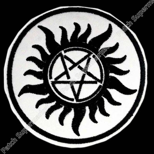 Online Shop 3 Supernatural Anti Possession Tattoo Mc Jacket Back