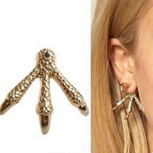 E430 Fashion Punk Eagle Claw Earring Party Dress Jewelry Popular Vintage Gold Color Talon Demon Claw Alloy Unique Earring Stud(China)