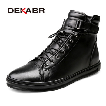 DEKABR Brand Winter Warm Men Snow Boots High Top Fur Men's Boots Fashion Autumn Men Boots Casual Male Classic Shoes Size 38-48