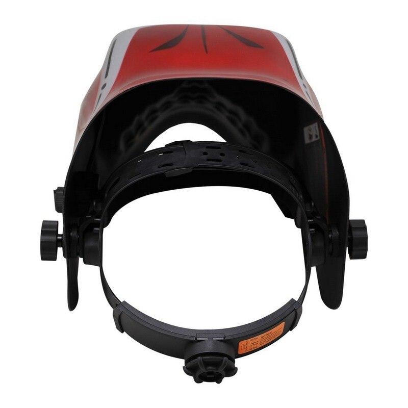 Powered Battery Big Red Rechargeable Solar Welding Design View Helmet Mask Welding Skeleton Helmet Battery Darkening Auto