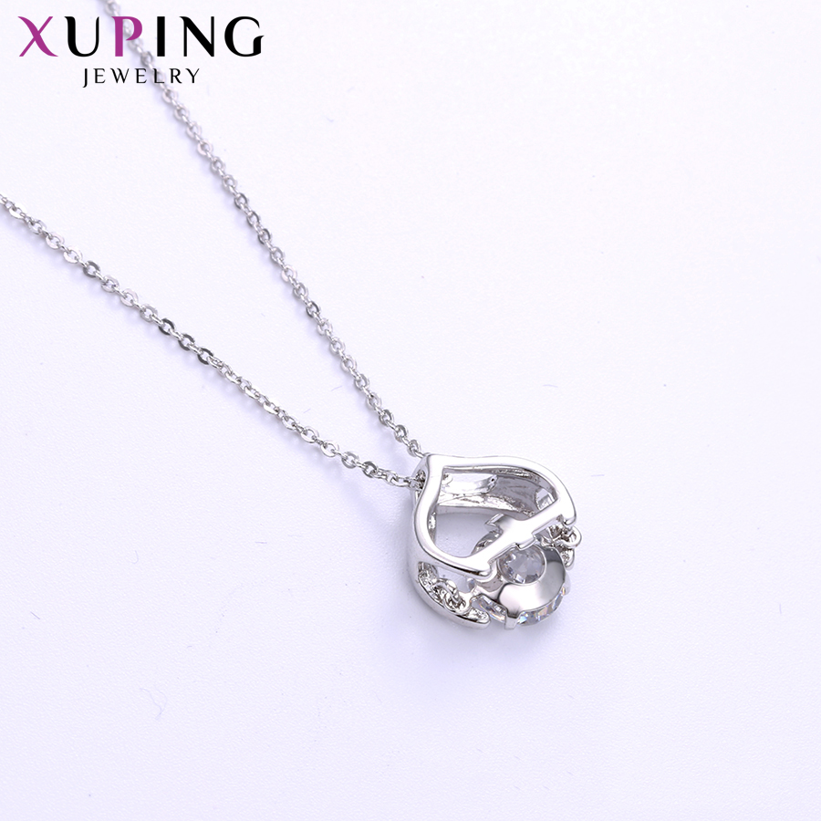 11.11 Deals Xuping Jewelry Exquisite Necklace Charm Style With Synthetic CZ for Women Party Christmas Day Gifts S119.3-44703