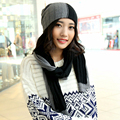 New brand female year gift hat scarf twinset wool warm knit muffler scarf women's winter knitted hat fashion outdoor thermal cap