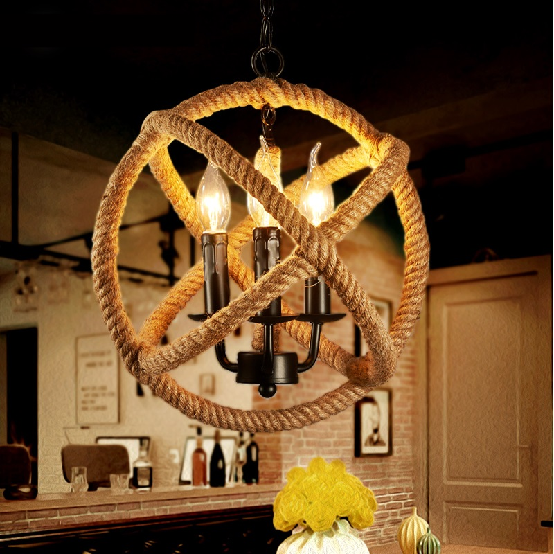 Nordic Retro pendant Lights Vintage industrial lighting Loft Antique rope pendant lamps black luminaire suspendu Fixture light mordern nordic retro edison bulb vintage chandelier loft antique adjustable diy e27 art spider pendant lamps home fixture lights