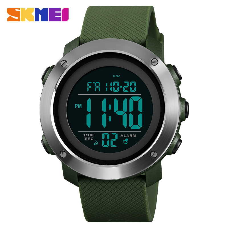 SKMEI relojes deportivos para hombres reloj Digital LED impermeable de moda de lujo marca Relogio Masculino reloj hombre