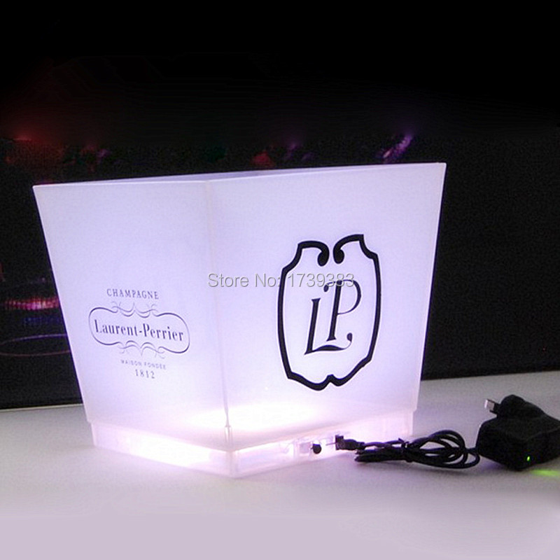 large capacity 12L cube rechargeable led ice bucket 8