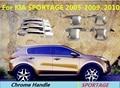 Para Kia Sportage 2005 2006 2007 2008 2009 2010 ABS Chrome Ajuste de La Cubierta Exterior Manijas de Puerta Del Coche Coche Que Labra Los Accesorios