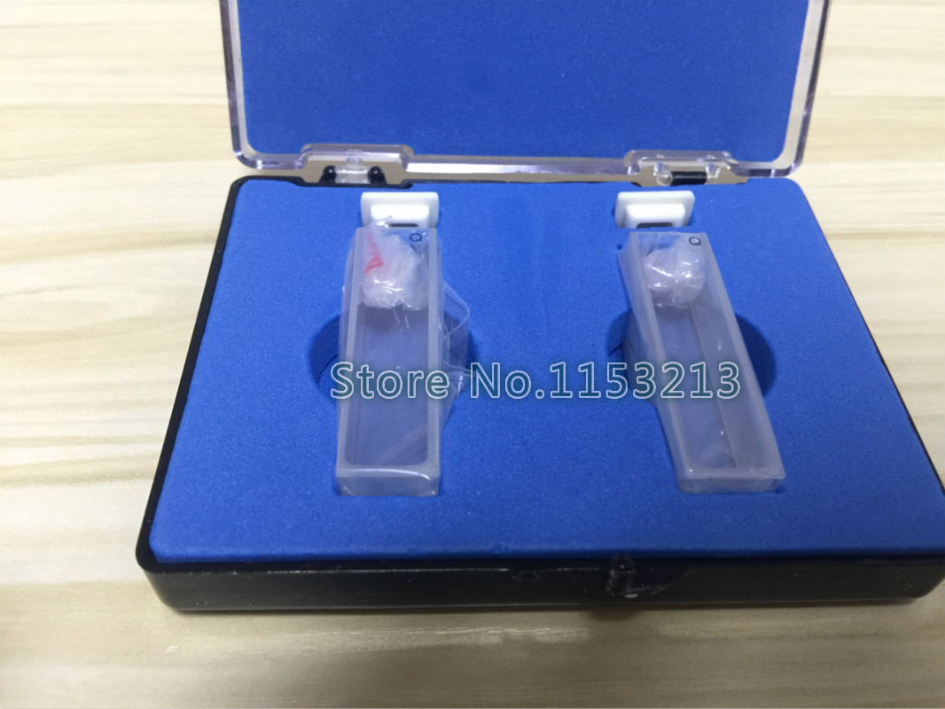 Quartz Cuvette ( Liquid Sample Cell) Absorption Cell 10mm, Measuring Reflected Light Cuvette 2pcs/pk Free Shipping