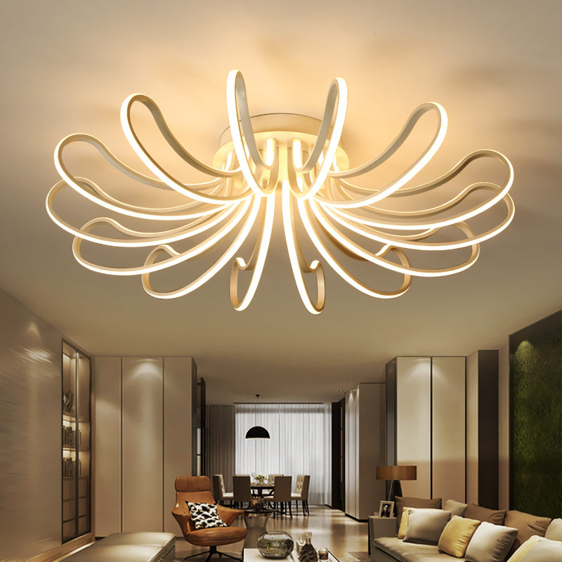 new designer modern led ceiling lights for living study room bedroom lampe plafond avize ac85. Black Bedroom Furniture Sets. Home Design Ideas