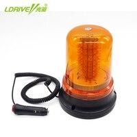 LDRIVE Magnet Flash Dash LED Light Yellow Lamp School Police Beacon Light Emergency Warning Strobe Light