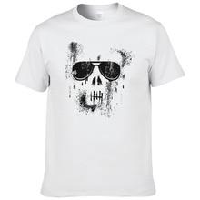 Skull T Shirt Men Printed Hip Hop Mens shirts Boys Summer Cotton Short Sleeve O-neck 2017 Fashion XP