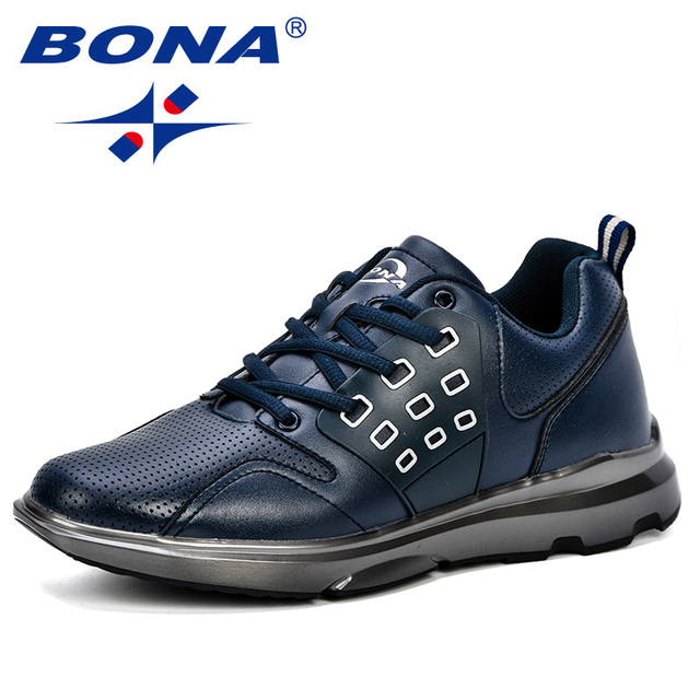 BONA New Classics Style Men Walking Shoes Lace Up Men Athletic Shoes Popular Sneakers Trendy Design Outdoor Jogging Shoes