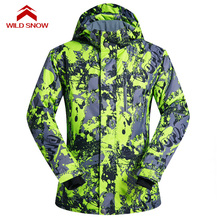 WILD SNOW 2017 New Winter Ski Jackets Suit Men Outdoor Thermal Waterproof Windproof Snowboard Jackets Climbing Snow Skiing Wear недорого