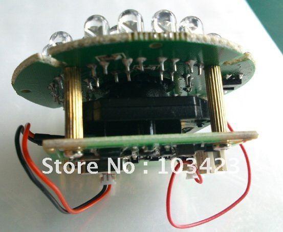 "600 TV Line CCTV Camera, 1/3"" CMOS Board with IR-Cutter,3.6mm Lens, 24IR Light Board"