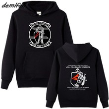 Sudadera de forro polar para hombre, ropa de calle Harajuku, Vfa154, negro, caballeros, escuadrón, sudaderas Navy de Estados Unidos, chaqueta
