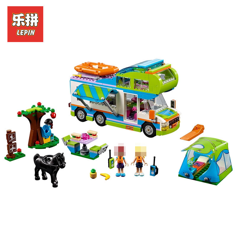 Lepin 01062 Friends Series Mia's Camper Van The Motorhome Building Blocks Bricks Toys Children Gift LegoINGlys 41339 Girl Dolls цена