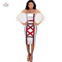 Модные африканские платья для женщин базин богатые Лоскутные