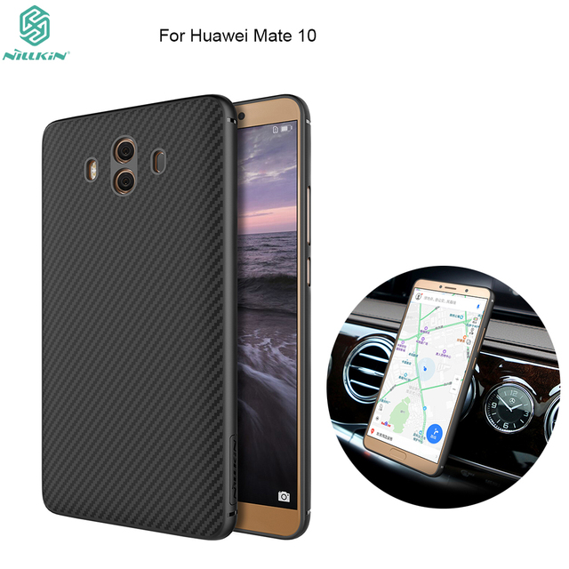 dc502b5584 US $9.99 35% OFF|For Huawei Mate 10 case NILLKIN Synthetic fiber Hard  Carbon PP Plastic Back Cover For huawei mate 10 Pro mobile phone cases-in  Fitted ...
