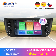 RAM 4G Android 8.0 Car Stereo DVD Player GPS Glonass Multimedia for Fiat Grande Punto Linea 2012 - 2015 Audio RDS Radio Stereo android 8 0 car multimedia player 1din car radio gps stereo audio player for fiat grande punto linea 2012 2017 video mp5 player