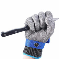 1PC Safety Working Hunting Fishing Glove Stainless Steel Wire Mesh Butcher Knife Anti-Cutting Slaughter Repair Carpentry Glove 5