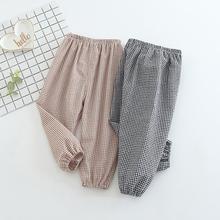 Новые модные летние хлопковые штаны длиной до щиколотки для детей и малышей 0-24 месяцев, одежда для детей и малышей, детские штаны-шаровары в клетку с принтом для девочек