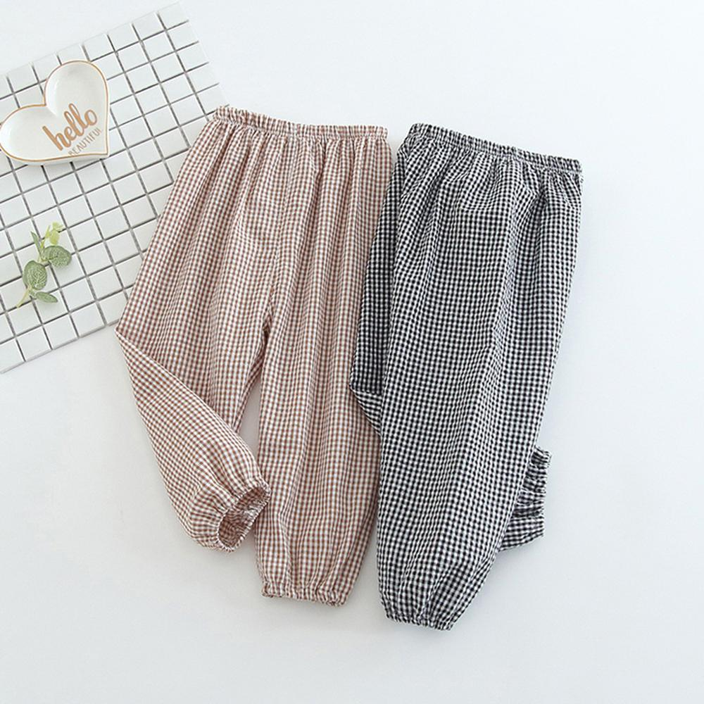 New Fashion 0-24 Months 2019 Summer Cotton Ankle-length Pants For Infant Baby Kid Girl Children Plaid Printed Harem Pants