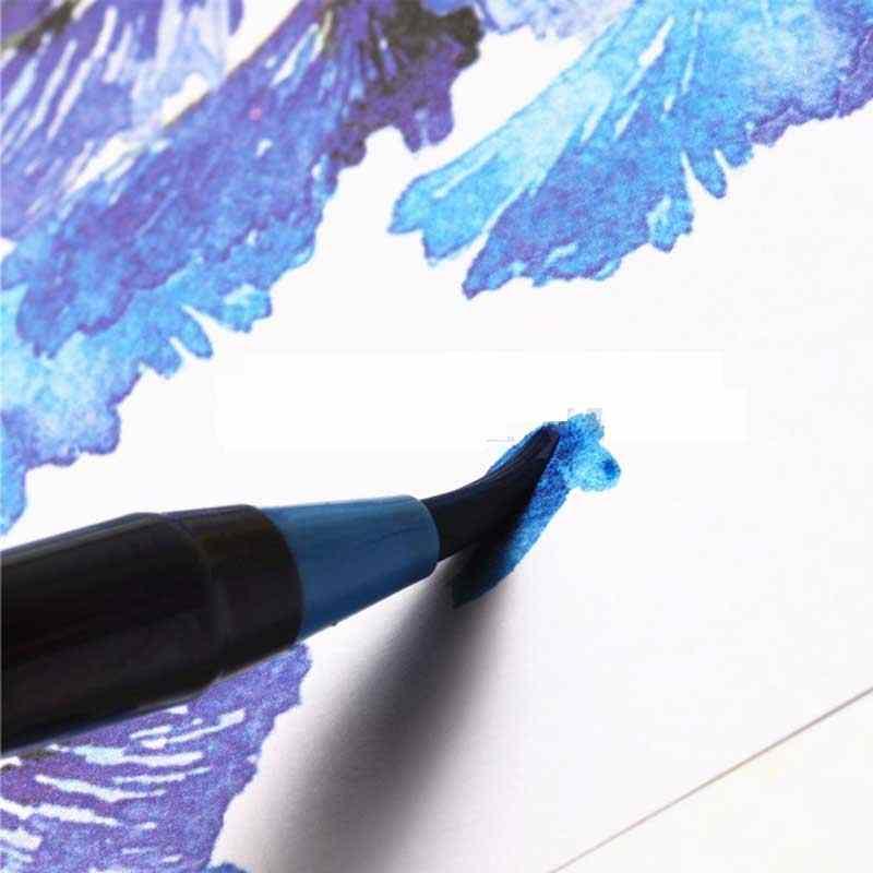 20 màu Cao Cấp Tranh Mềm Brush Bút Thiết Lập Màu Nước Vẽ Tranh Cọ Nghệ Sĩ Copic Phác Thảo Markers Bút Hiệu Ứng Cuốn Sách Manga