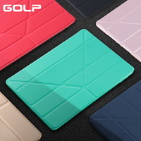 GOLP Case for iPad Air 2  PU Leather Stand Flip Front Cover Soft TPU Smart Back Case for iPad Air 2|case for ipad|case for ipad air|for ipad air 2 -