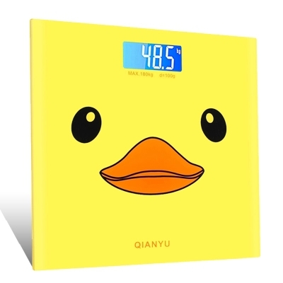 070457 big yellow duck cartoon accurate electronic scale household weighing-machine LCD digital display
