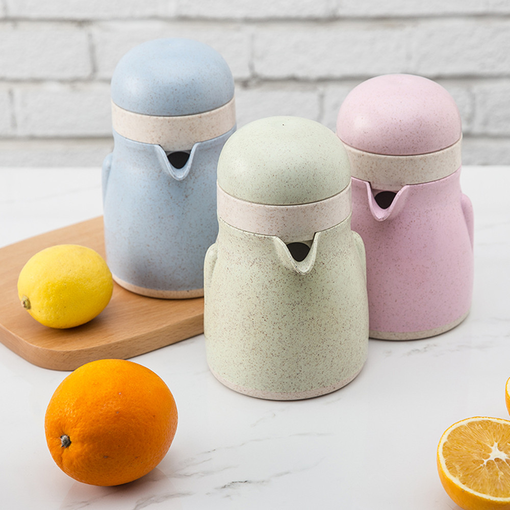 Juicer Wheat Straw Material Press Fruit Juicer Mini Fruit Squeezer For Citrus Orange Lemon Portable Juicer Machine