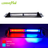 LDRIVE 1PCS 36W 12V 24V Car Flash Light Red Blue LED COB Car Windscreen Warning Light Police Emergency Flasher Strobe Lamp