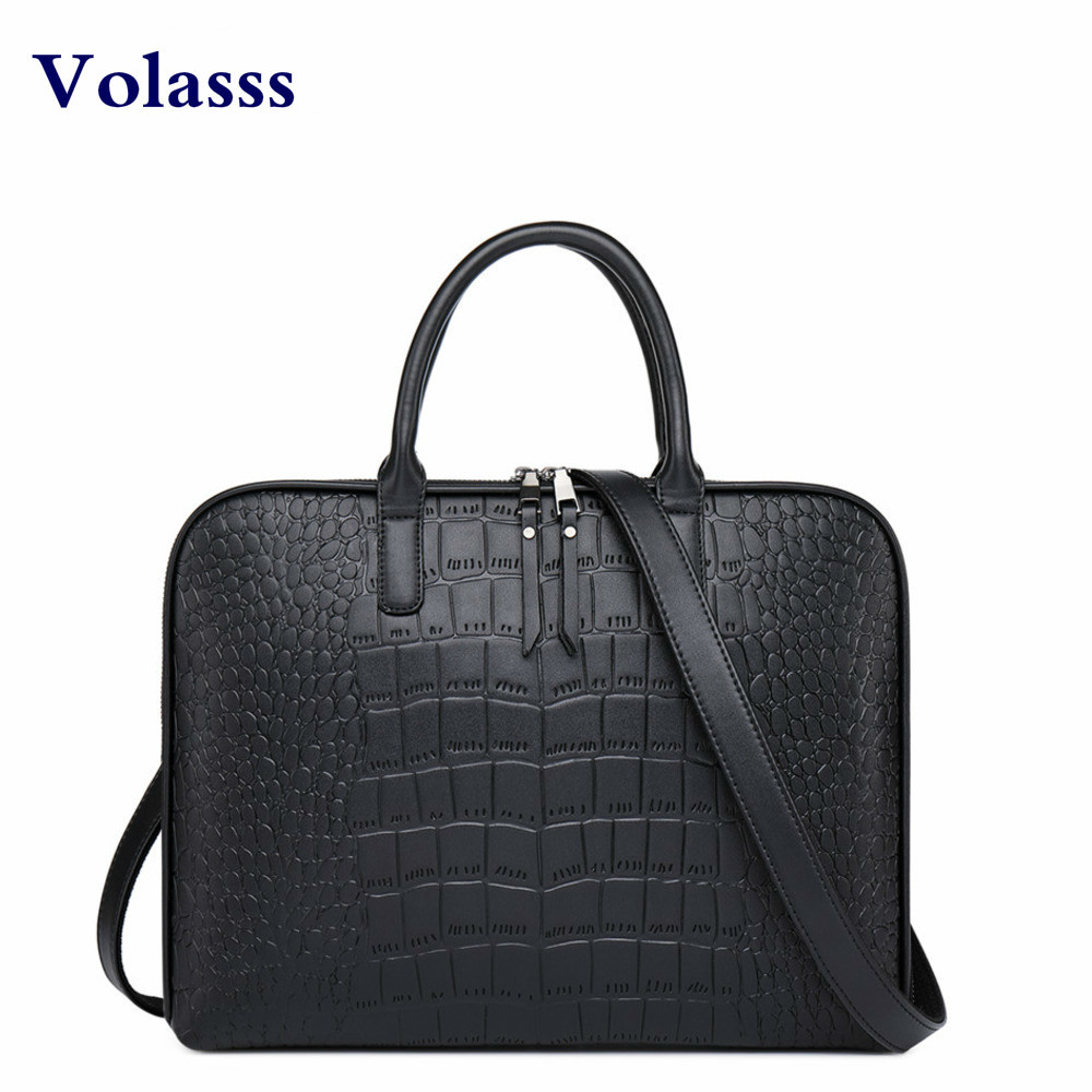 High Quality Women Business Leather Briefcase Shoulder Office Bags For Woman Leather Laptop Handbag Bolsos Mujer Girls Hand Bag