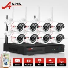 ANRAN 8-КАНАЛЬНЫЙ Беспроводной NVR Системы ВИДЕОНАБЛЮДЕНИЯ P2P 1080 P Ip-камеры WI-FI Водоустойчивая Ночного Видения Домашней Безопасности Комплект Камеры Наблюдения набор