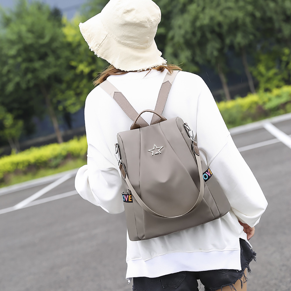 HTB1VZvbMbPpK1RjSZFFq6y5PpXae Masion Fabre Shoulder Bag Anti-theft Backpack Bag Personality Wild Oxford Cloth Small Backpack Bags For Women Mochila Feminina