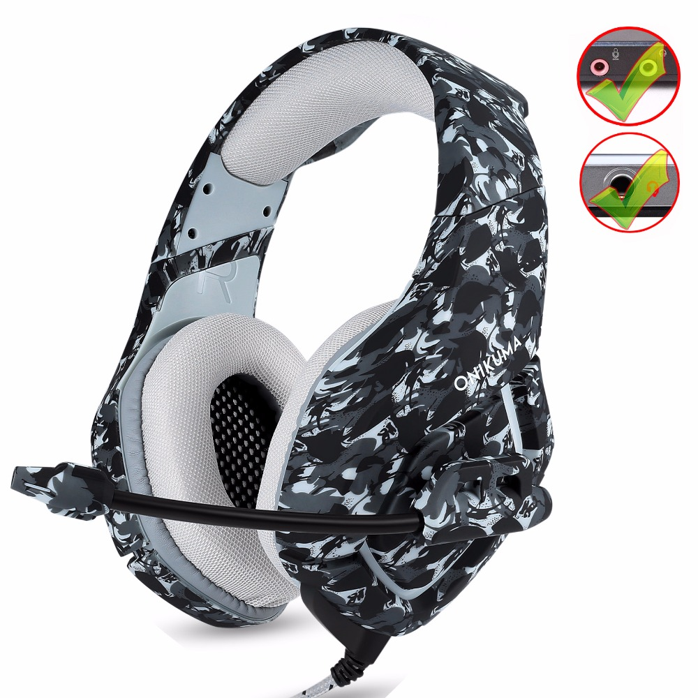 ONIKUMA gaming Headset Deep Bass Stereo Camouflage Headphones Game Earphones Casque with Mic for PS4 PC New Xbox Mobile Phone